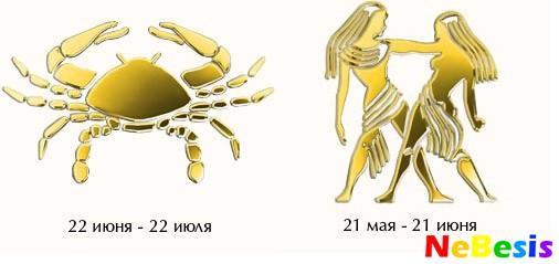 Гороскоп близнец мужчи  и женщи  рак